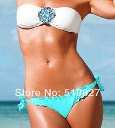 2014 crystal Women's Bikini rhinestone Swimsuit diamond Swimwear push up Bikinis VS secret Sexy bathing suit for Women 3 color-in Bikinis ...