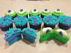 Monsters Inc cupcakes!