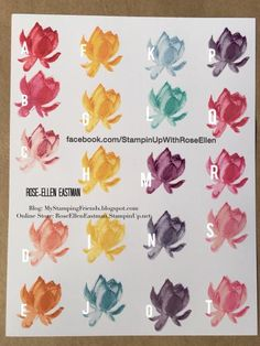 Lotus Blossom Color Combinations by CardLuver - Cards and Paper Crafts at Splitcoaststampers