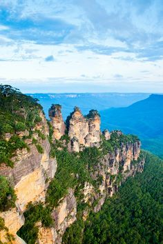 Three Sisters, Blue Mountains National Park, Australia, August 2012.