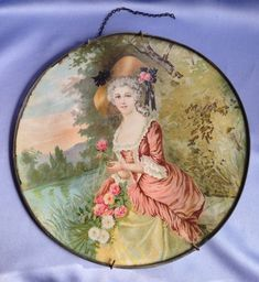 LARGE Lovely Victorian Lady FLUE COVER