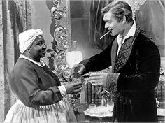Hattie McDaniels and Clark Gable