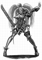"inquisitors-art-gallery: ""wh40kpowerpoints: ""THERE IS A CHARACTER NAMED 'MAD'DONNA FROM HOUSE ESCHER. I wish necromunda kept going. "" So this is ""Mad"" Donna. I like her already. -Inquisitor """
