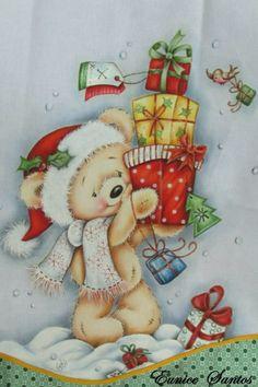 S Whimsical Christmas, Merry Christmas To All, Christmas Art, Handmade Christmas, Vintage Christmas, Christmas Ornaments, Illustration Noel, Christmas Illustration, Illustrations