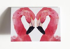 A cute Valentines card featuring my original watercolour painting Up and Close With A Flamingo.  This Valentines why not give a gift that can show your love forever not just for the day, this Valentines card featuring a pair of Flamingos embracing to form a heart is a lovely way to show your feelings, but, is also a beautiful piece of art in its own right.  Simply frame it and place it on your bedside table or hang it on your wall for an everlasting reminder of you loved ones feelings.  The…
