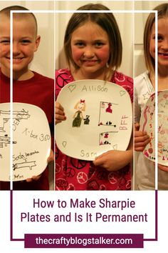 Making Sharpie Plates with the kids is a keepsake craft that everyone will love. Click here for the tutorial and food safety information. #thecraftyblogstalker #sharpieplates #personalizedplates #diyplates Sharpie Plates, Sharpie Markers, Easy Diy Crafts, Diy Crafts For Kids, Keepsake Crafts, Personalized Plates, Neighbor Gifts, Food Safety, Gifts For Coworkers