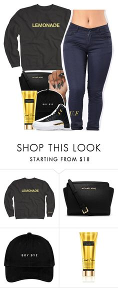 """Beyoncé - All Night"" by renipooh ❤ liked on Polyvore featuring MICHAEL Michael Kors and Victoria's Secret"