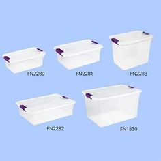 Larger image for Clear-View Storage Containers