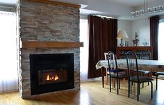 Super-Efficiency Integrated Fireplace