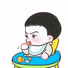 Chibi, Kaisoo, Chanyeol, Exo Cartoon, Exo Anime, Fanart, Exo Fan Art, My Boo, Galaxy Wallpaper