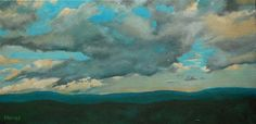 "Daily+Paintworks+-+""Clouds+over+Cahaba+Valley""+-+Original+Fine+Art+for+Sale+-+©+Beverley+Phillips"