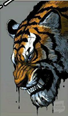 Tiger Art, Tiger Tiger, Asian Tigers, Tiger Pictures, Tarzan, Cool Walls, Big Cats, Manga Art, Lions