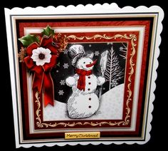 BLACK & WHITE SNOWMAN 7.7 Decoupage & Insert Mini Kit - CUP802962_68 | Craftsuprint
