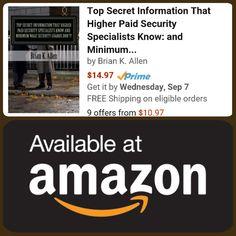 Top Secret Security Info - On Amazon! https://www.amazon.com/Secret-Information-Higher-Security-Specialists/dp/1537085735/ #executiveprotection #bodyguard #security #securityofficer #securityguard #army #navy #airforce #marines #usmc #thinblueline #policeofficer #lawenforcement