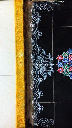 Rangoli Designs Latest, Simple Rangoli Designs Images, Rangoli Designs Flower, Rangoli Border Designs, Rangoli Ideas, Rangoli Designs Diwali, Rangoli Designs With Dots, Easy Rangoli, Beautiful Rangoli Designs