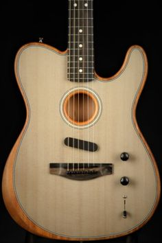 Here at Chicago Music Exchange, we believe that the best guitars are versatile ones, and never has there been a more versatile one. Go from acoustic to electric, in between, and back again with the. Bass, Fender Bender, Fender American, Guitar Design, Cool Guitar, Music Stuff, Acoustic Guitar, Music Instruments, Music