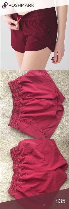 Lululemon Tracker IV shorts Great condition maroon colored tracker IV shorts! Size 6 lululemon athletica Shorts