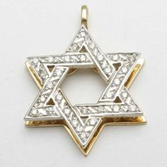 Fabulous Diamond Star of David Pendant