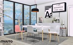 Nordic Dining Furnitures at MXIMS via Sims 4 Updates