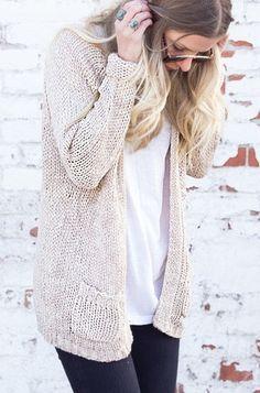 Everyday Sweater Cardigan - Oatmeal