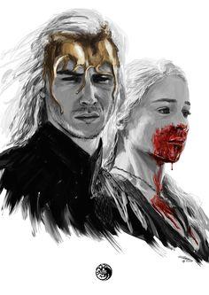 Viserys and Daenerys Targaryen, Game of Thrones Game Of Thrones Br, Game Of Thrones Artwork, Game Of Thrones Funny, Daenerys Targaryen, Khaleesi, Winter Is Here, Winter Is Coming, Wallpapers Geek, Games Memes