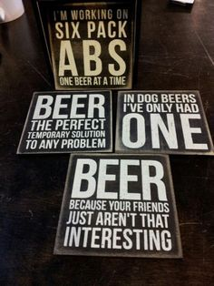Valentine's gifts for him: Beer Coaster set $20 from The Boulevard at South End