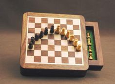 Magnetic Chess Set W/Drawer. #boardgames #familyboardgames