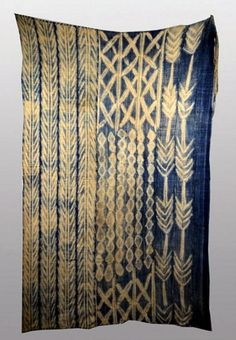 Africa | Wrapper from the Mossi people | Cotton; indigo resist
