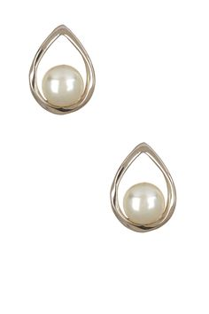 Teardrop Pearl Stud |  Sponsored by Nordstrom Rack. ==