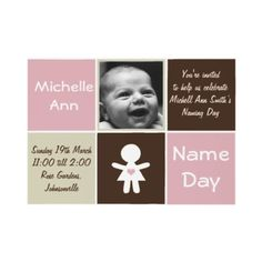 Beautiful Name Day Invitations  Baby Naming Ceremony