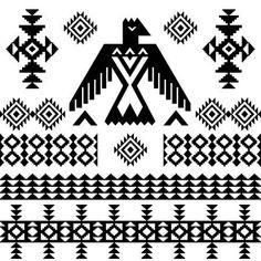 Set Of Native Americans Ethnic Symbols ...
