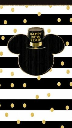 Mickey Mouse Happy New Year Wallpaper