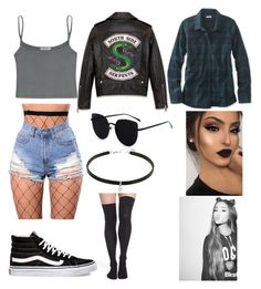 Designer Clothes, Shoes & Bags for Women Bad Girl Outfits, Punk Outfits, Teen Fashion Outfits, Retro Outfits, Cute Comfy Outfits, Stylish Outfits, Cool Outfits, Riverdale Fashion, Movie Inspired Outfits