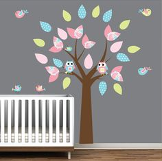 Childrens Vinyl Wall Decals Nursery Tree Decal with by Modernwalls, $99.00