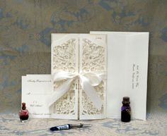 Mazel Tov Gates Wedding, jewish papercut wedding invitation