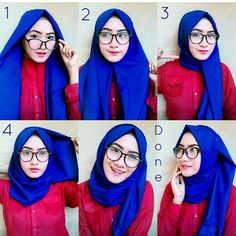 Trendy Ideas For How To Wear Pashminas Hijab Simple Hijab Casual, Ootd Hijab, Easy Hijab Style, Hijab Simple, Hijab Chic, Dress Casual, Tutorial Hijab Segitiga, Tutorial Hijab Pashmina, Simple Hijab Tutorial