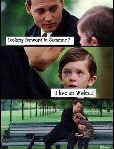 Always raining in wales ;)