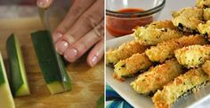Mouthwatering Crunchy Tender Oven Baked Zucchini - So Crafty Me Zucchini Sticks, Bake Zucchini, Zucchini Fries, Oven Baked, Good Food, Food And Drink, Stuffed Peppers, Healthy Recipes, Baking