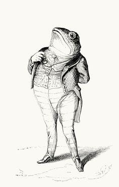 J-J. Grandville, from Vie privée et publique des animaux (Public and Private Life of Animals), under the direction of P. J. Stahl, Paris, 1867