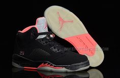 http://www.nikeriftshoes.com/air-jordan-5-retro-gs-blackpink-womens-size-cheap-for-sale.html AIR JORDAN 5 RETRO GS BLACK/PINK WOMENS SIZE CHEAP FOR SALE Only $88.00 , Free Shipping!
