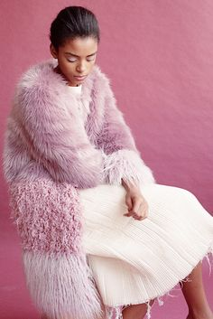 A cool faux fur.