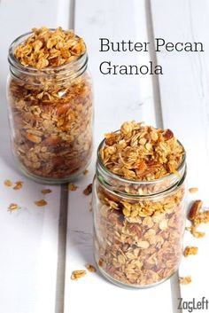 Butter Pecan Granola - sweet, crunchy and full of so much flavor. This homemade granola is made in minutes and tastes so good!