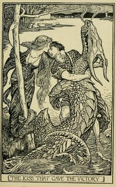 ✯ The Crimson Fairy Book by Andrew Lang :: Illustrations by H. J. Ford✯