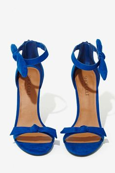 Shoe Cult Bow Thyself Heel - Cobalt - Shoes | Open Toe | Shoe Cult | Shoes | All | Cyber Monday Shoes | The Sultry Siren