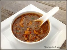 Chicken Manchow soupedit Manchow Soup Recipe, Indian Food Recipes, Ethnic Recipes, Chicken Soup Recipes, Culinary Arts, Soup And Salad, Chinese Food, Street Food, Cheeseburger Chowder