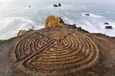 The Labyrinth constructed by artist Eduardo Aguilera that overlooks Golden Gate Bridge at Lands End park in San Francisco. DAVID GARDNER