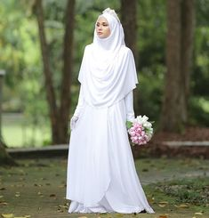 dawn ❤ — Sayyidina Abu Hurairah r.anhu narrated that the Prophet … - Hochzeit Muslim Wedding Gown, Wedding Abaya, Wedding Hijab Styles, Muslimah Wedding Dress, Hijab Style Dress, Hijab Wedding Dresses, Disney Wedding Dresses, Bridal Dresses, Hijab Chic
