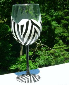 wine glass painting patterns - Google Search