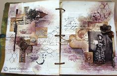 Double page journal spread. Full details and step by step at http://www.theartisticstampercreativeteam.blogspot.co.uk/