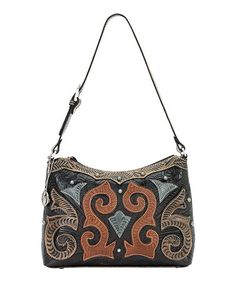 Look what I found on #zulily! Chocolate Swirl Leather Shoulder Bag by American West #zulilyfinds